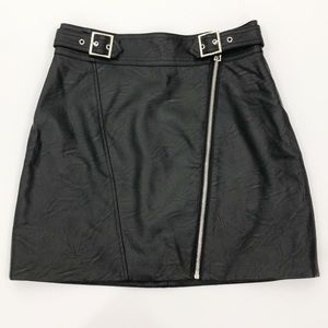 Topshop Faux Leather High-Waist Mini Skirt